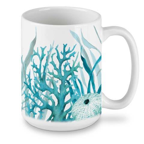 Ceramic Mug - Coral Life 15 oz - 4.5x4.5x3.13