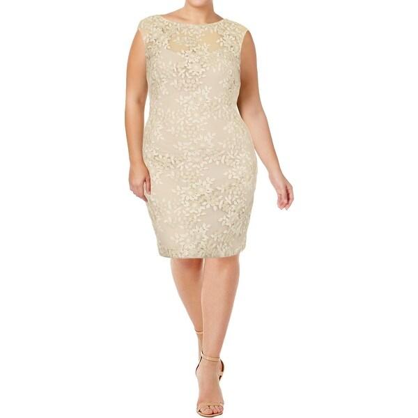 27ca2ce7 Shop Lauren Ralph Lauren Womens Cocktail Dress Metallic Sleeveless ...