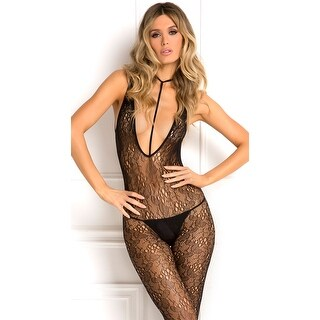 Lacy Plunge Harness Bodystocking