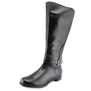 Rose Petals by Walking Cradles Sallie Women Leather Black Mid Calf Boot