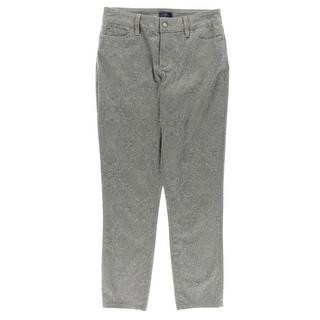NYDJ Womens Clarissa Ankle Jeans Lift Tuck Technology Pattern