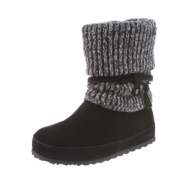 Bearpaw Boots Womens Cosima Slouchy Rib Knit Comfort Foot Bed