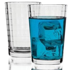 Palais Glassware® Vitre Collection; High Quality Glass Beverage Set (Set of 4 - 7 Oz Juice Glasses, Clear)