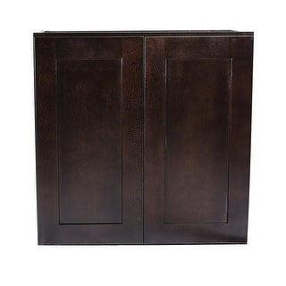 30 x 24 x 12 in. Brookings Wall Cabinet, Espresso
