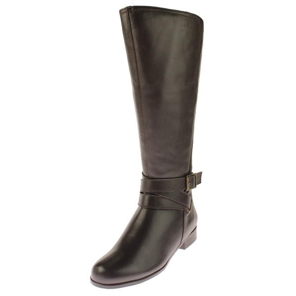 Rose Petals Womens Tristan Riding Boots Leather Knee-High