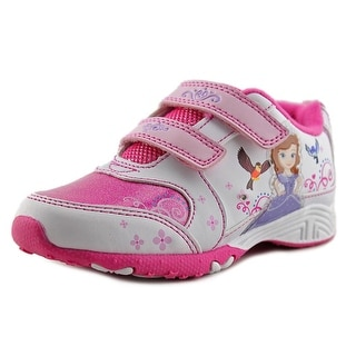 Disney Sofia the First Light Up Toddler Round Toe Synthetic White Sneakers