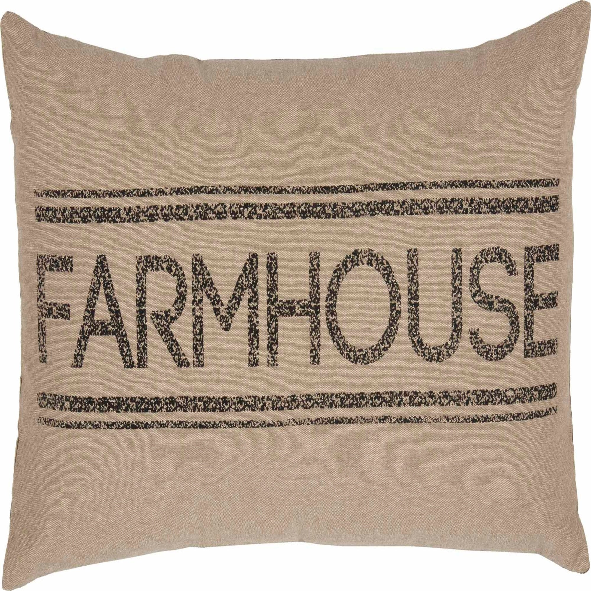 "New SAWYER MILLS Farm House Word RED FARMHOUSE LIVING GRAIN SACK PILLOW 22/"""