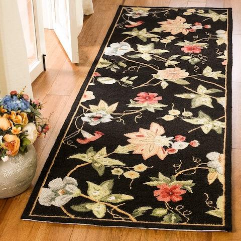 SAFAVIEH Handmade Chelsea Rubi French Country Floral Wool Rug