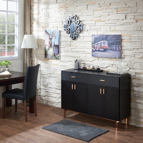 Furniture of America Mason Modern Black 2-drawer Buffet