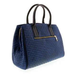 HS2076 BLU SASA Blue Leather Satchel/Shoulder Bag - 13-10-6