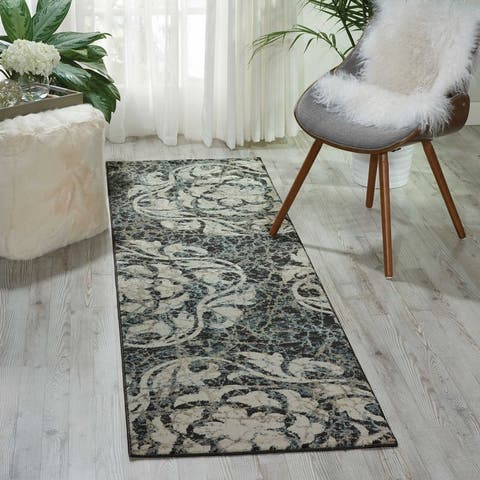 Nourison Maxell Modern Distressed Floral Mosaic Area Rug