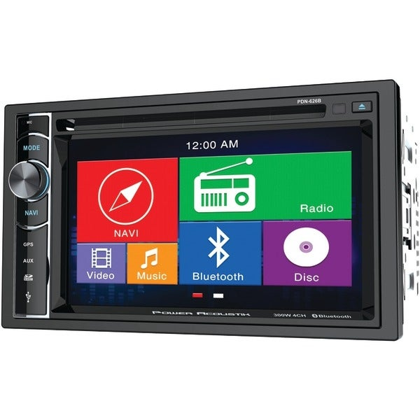 "Power Acoustik Pdn-626B 6.2"" Double-Din In-Dash Gps Navigation Lcd Touchscreen Dvd Receiver With Bluetooth(R)"