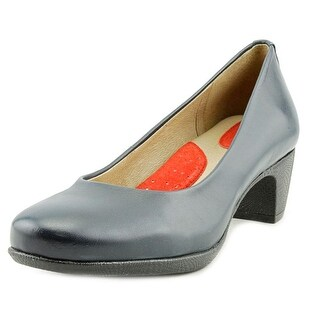 Softwalk Imperial Round Toe Leather Heels