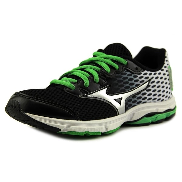 Mizuno Wave Rider 18 Jnr. Youth  Round Toe Synthetic Multi Color Running Shoe