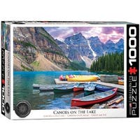 Canoes On The Lake 1000 Piece Puzzle, 1,000 Piece Puzzles by Eurographics
