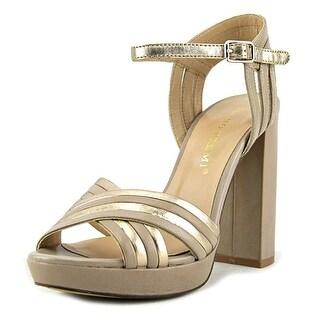 Bruno Premi Yoox   Open-Toe Leather  Heels