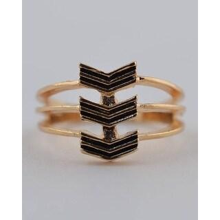 Chevron Stack Ring - Size - 6