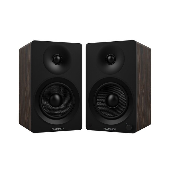 "Fluance Ai40B Powered Two-Way 5"" 2.0 Bookshelf Speakers with Class D Amplifier for Turntable, PC, HDTV & Bluetooth Music"