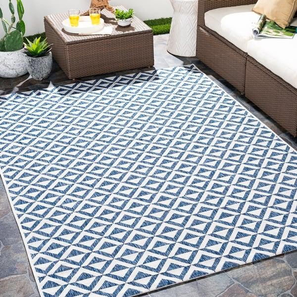 Keller Indoor Outdoor Diamond Stripe Area Rug Overstock 32065240