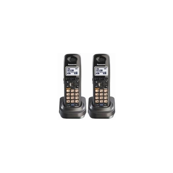 Panasonic KX-TGA939T (2 Pack) Extra Handset for KX-TG93XX Cordless Phones Series, Metallic Black