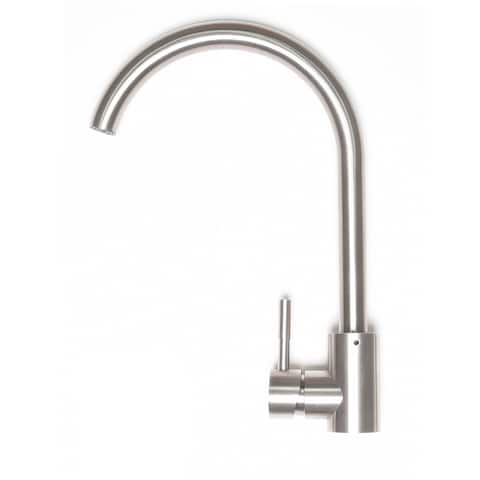 Zenvida Modern Swivel Head Kitchen/Wet Bar Sink Faucet, Brushed Nickel, Single Hole Single Handle