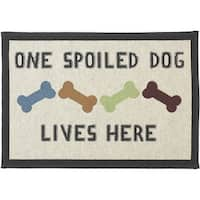 """One Spoiled Dog - Petrageous Designs Tapestry Placemat 19""""X13"""""""