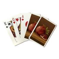 Pomegranate - Oil Painting - Lantern Press Artwork (Poker Playing Cards Deck)