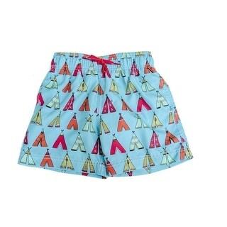 Azul Boys Multi Color Little Teepee Drawstring Swim Shorts