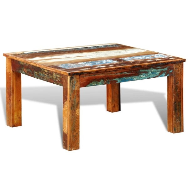 vidaXL Coffee Table Square Reclaimed Wood