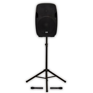 "Acoustic Audio AA154UB Active 15"" Bluetooth Battery Speaker Stand AA154UB-PK1"