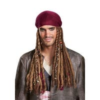 Jack Sparrow Adult Bandana w/ Dreads