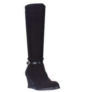 Lauren Ralph Lauren Tula Knee-High Wedge Boots, Black