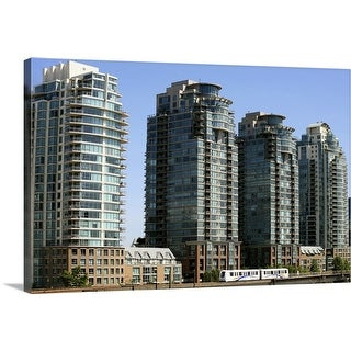 """""""Elevated Sky Train in Downtown Vancouver, Canada"""" Canvas Wall Art"""