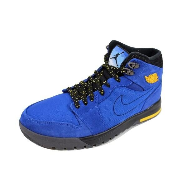 Nike Men's Air Jordan I 1 Trek Game Royal/Varsity Maize-Black-Dark Grey 616344-489