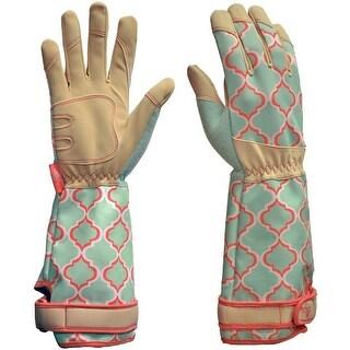 Digz 7625-26 Rose Picker Garden Gloves, Medium, Green