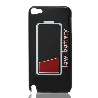 Low Battery Letters IMD Hard Back Case Cover Black for iPod Touch 5 5G 5th Gen