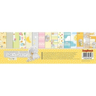 "Scrapberry's Sweet Dreams Paper Pack 12""X12"" 9/Pkg-6 Double-Sided & 3 Single Sided"
