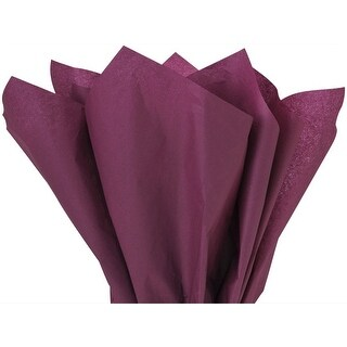 "(480 pack) Solid Burgundy Tissue Paper 20 x 30"" Sheet Half Ream Made from Post Industrial Recycled Fibers"