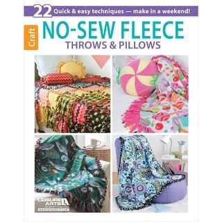 Leisure Arts-No-Sew Fleece Throws & Pillows