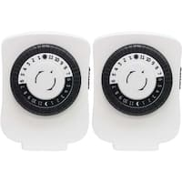 Ge 24-hour Polarized Plug-in Mechanical Timer With 48 On And Off & 1 Outlet 2 Pk
