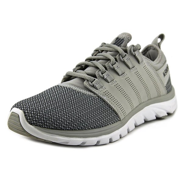 K-Swiss Ace Trainer CMF Men Round Toe Canvas Gray Running Shoe