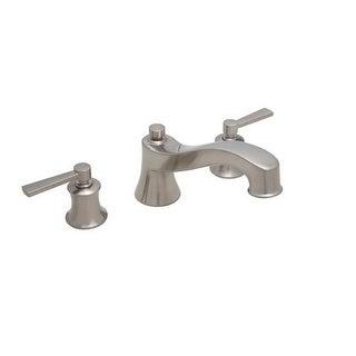 mirabelle mirpt3rt pendleton deck mounted roman tub faucet with metal lever handles