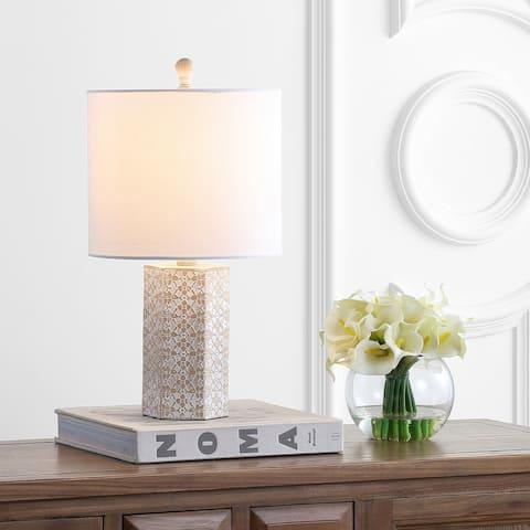 "SAFAVIEH Lighting 19"" Makayla LED Table Lamp"