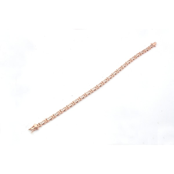 Marvelous 1.03 Carat Round Brilliant Cut Natural Diamond Designer Bracelet