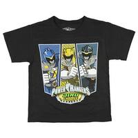 Power Rangers Boys' Dino Charge Black T-Shirt