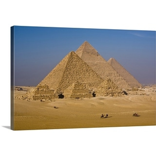 """The Great Pyramids of Giza, Egypt."" Canvas Wall Art"