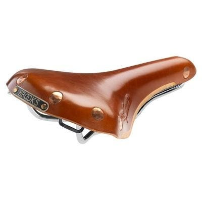 Brooks Swift Bicycle Saddle - Chrome/Steel