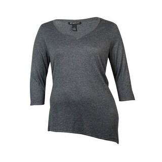 INC Women's V-neck 3/4 Sleeve Tunic Sweater