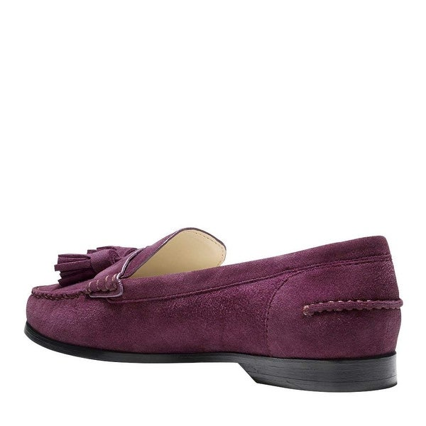 Cole Haan Womens Emmons Tassel Leather Closed Toe Loafers