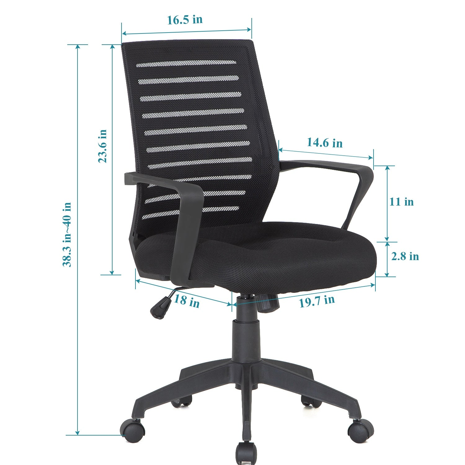 Vecelo Office Chairs Mesh Chair Task Chair Adjustable Height Swivel N A